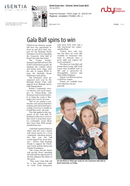 The Business League Gala Ball 2014 - 2