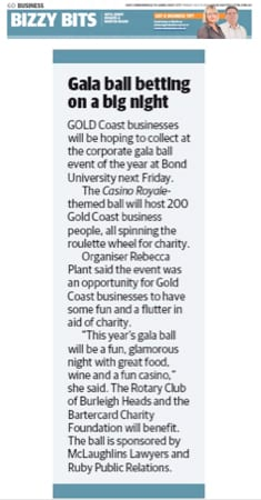 The Business League Gala Ball 2014